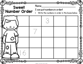 October Kindergarten Centers - Math