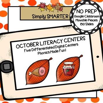 October Kindergarten Digital Literacy Centers For GOOGLE CLASSROOM