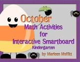 October Kindergarten Math Activities for Interactive Smart