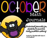 October Kindergarten Math Journal