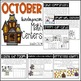 October Kindergarten Math and Literacy Centers
