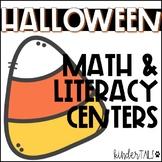Kindergarten Halloween Math and Literacy Centers