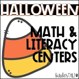 Kindergarten Halloween Math and Literacy Centers