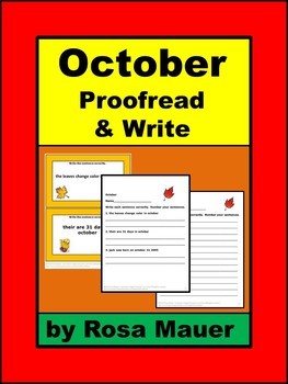 October Writing Activities Proofreading