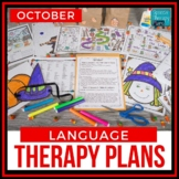 October & Halloween Language Therapy Plans