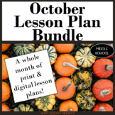 October Lesson Plan Bundle for Reading, Writing, Research,