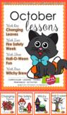 October Lessons Preschool Pre-K Kindergarten Curriculum BUNDLE S3