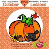 October Lessons Preschool Pre-K Kindergarten Curriculum BUNDLE S2