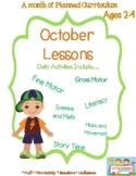 October Lesson Plans for preschool