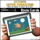 October Letter Formation BOOM CARDS™ | Digital NO-PREP | D