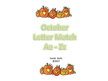 October Letter Match Aa to Zz
