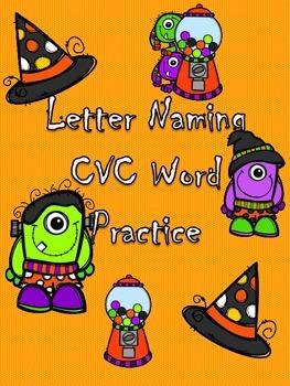 October Letter Naming and Short Vowel Practice