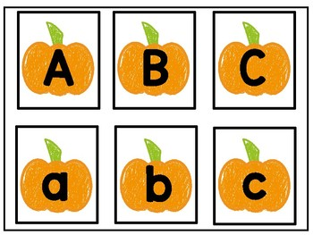 October Letter and Number Cards