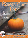 October Lexiled close reads