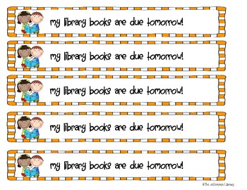 October Library Reminder Bracelets