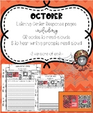 October Listening Center Response Pages QR codes to read-alouds & prompts