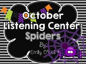 October Listening Center - Spiders