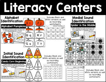 October Literacy Activities Bundle