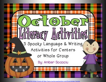 October Literacy Activities for Language and Writing