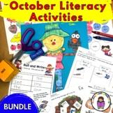 October Literacy Center Activities for Kindergarten (Bundle)