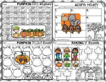 October Literacy Center for Kindergarten {CCSS}