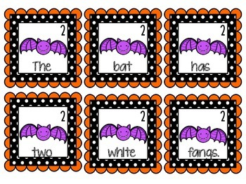 October Literacy Centers