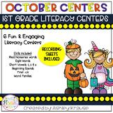 October Literacy Centers 1st Grade
