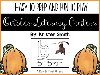 October Literacy Centers And Provocations For Kindergarteners