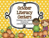 October Literacy Centers {Common Core Aligned for 2nd and 3rd Grade}