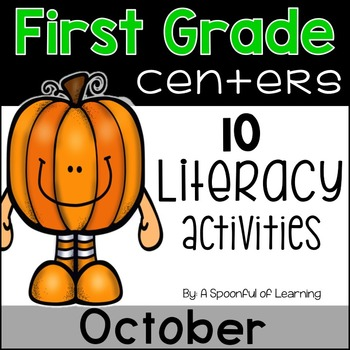 October Literacy Centers - First Grade