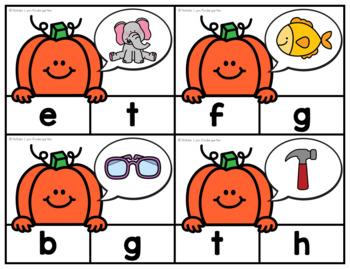 October Literacy Centers Kindergarten