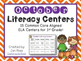 October Literacy Centers Menu {CCS Aligned} Grade 1