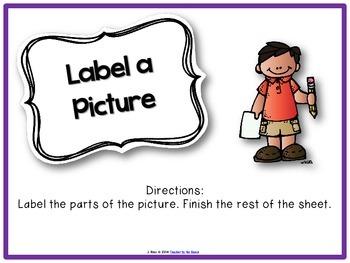 October Literacy Centers Menu {CCS Aligned} Grade 1