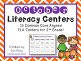 October Literacy Centers Menu {CCS Aligned} Grade 2