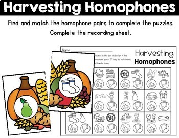 November Literacy Centers for First Grade