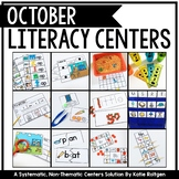 October Literacy Centers for Kindergarten