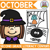 October Literacy Centers for Second Grade