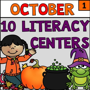 October Literacy Stations Centers Grade 1