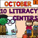 October Halloween Literacy Stations Centers Grade 2