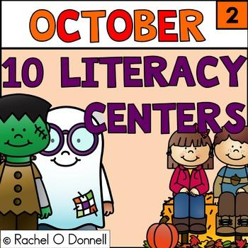 October Literacy Stations Centers Grade 2