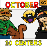 October Halloween Literacy Stations Centers Kindergarten