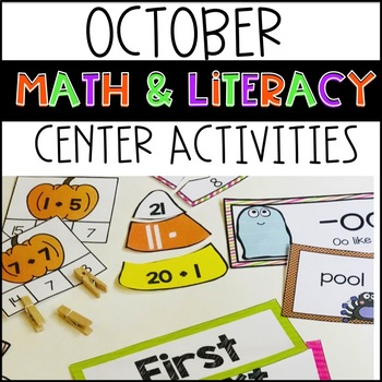 October Literacy and Math Bundle Pack!