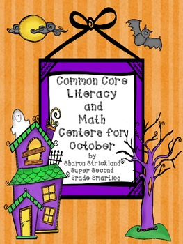 October Literacy and Math Centers for Second Grade-Common