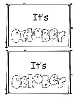 October Little Readers/Emergent Readers