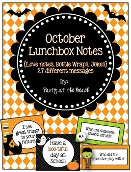October Lunchbox Notes, Wraps, and Jokes