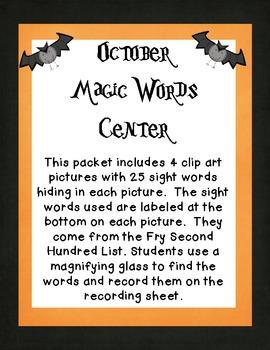 October Magic Words