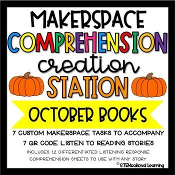 Makerspace STEM Reading Comprehension Creation Station {October}