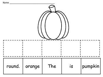 October Making Sentences