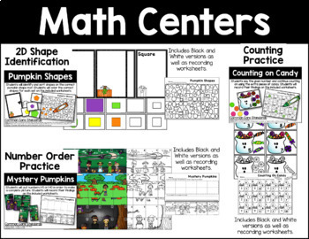 October Math Activities Bundle