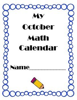 October Math Calendar